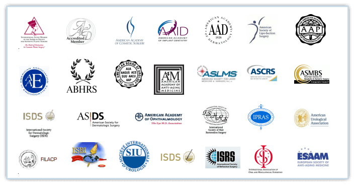 Picture of logos for international medical associations