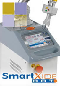 Picture of a DEKA SmartXide Fractional CO2 laser used for Laser Wrinkles Removal Treatment in Costa Rica.