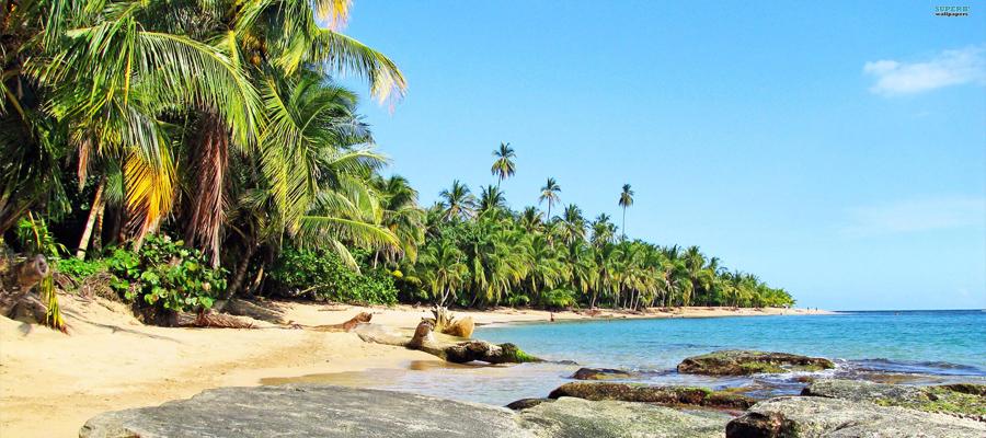 Picture of a beautiful beach near San Jose, Costa Rica.