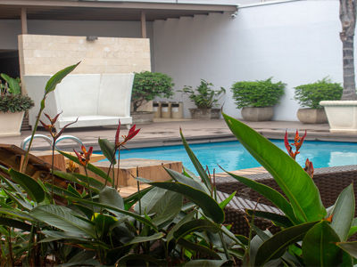 Picture of the pool at the Costa Rica Medical Center Inn, San Jose, Costa Rica.