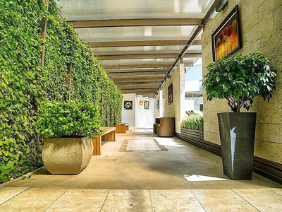 Picture of an interior walkway at the Costa Rica Medical Center Inn, San Jose, Costa Rica.