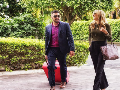 Picture of two guests arriving at the Costa Rica Medical Center Inn, San Jose, Costa Rica..